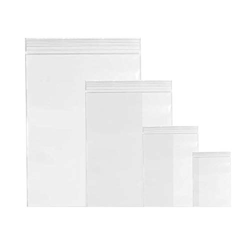 1600 pcs Sachet Zip Assortiment Reutilisable120 Microns en 4 Tailles,Sacs Plastique, Sachets à Fermeture Zip Assortiment pour Alimentaire, Outillage, Visserie, Pièces Mécaniques