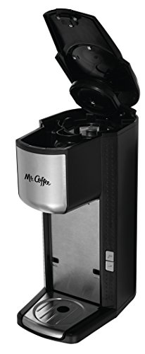 Mr. Coffee Single Cup Coffee Maker with Travel Mug and Built-In Grinder
