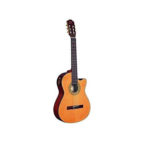Oqan - Guitarra clásica electrificada cutaway qgc-20ce