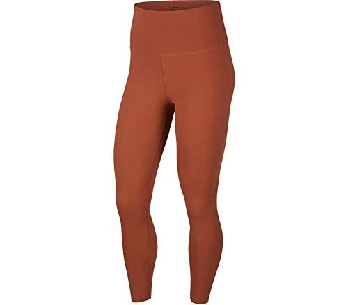 NIKE CJ3801-275 Mallas Deportivas 7/8 Yoga Luxe Finalon para Mujer, Red Bark/Terra Blush, M