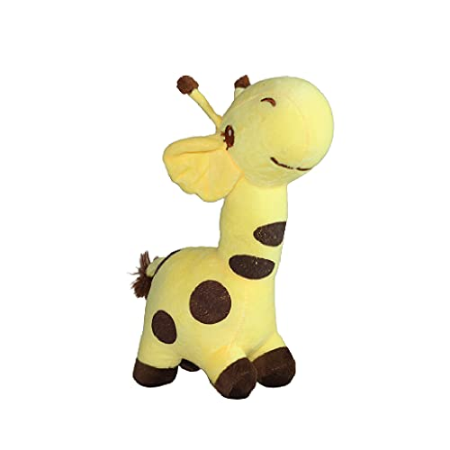 Curated Cart Yellow Giraffe Super Soft Toys (Size 24 cm) for Kids, Boys , Girls , Toddlers , Cute Plush Stuffed Toys Ideal for Gift on Birthdays Gifts (Yellow Colour)
