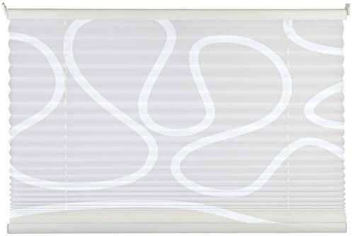 Plissee - Weiß - 60 x 130 cm - Klemmträger