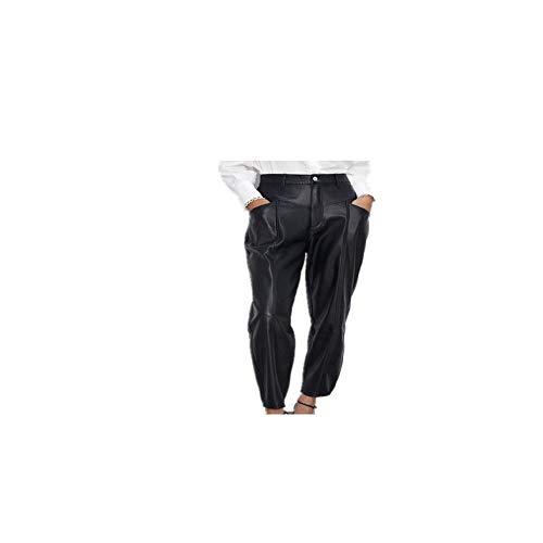 NHFGF Lederhose für Damen, modisch, Kunstleder, elegant Gr. M, Zrpa1826