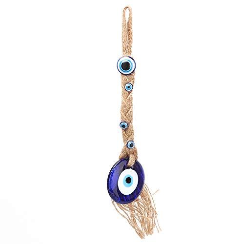 01 Amuleto de vidro turco, mal-olhado, talismã turco, enfeite de parede para pendurar o mal olhado, decoração de olho azul, decoração de pendurar para o mal olhado para decoração de casa para pendurar na parede