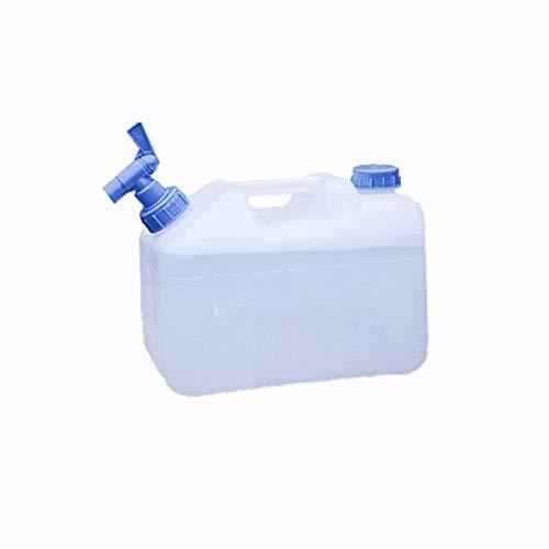 adad Campinggeschirr-Wasserkanister Haushaltsaußenwasserspeicher mit Wasserhahn für selbstfahrenden Wasserspeicher 10L15L18L 23L (Color : White, Size : 10litres)