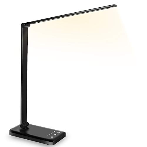 Desk lamp,Eye-caringTable Lamp,Dimmable Bedside lamp with USB...