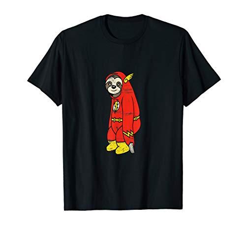 Retro Flash Faultier Shirt im Kostüm Kinder Herren Damen T-Shirt