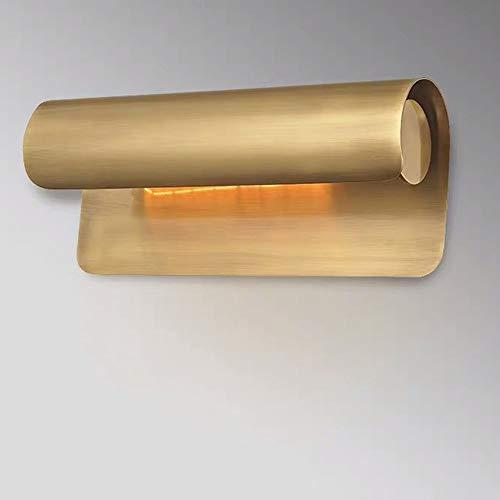 XXYHYQHJD Lámparas de Mesa Salón Dormitorio baño Completo Pintados de Espejo de Bronce Shine La lámpara de Pared Faros 25 * 13 * 11 cm Lámpara de Escritorio