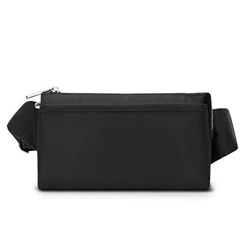 Wind Took Damen Brusttasche Bauchtasche Hüfttasche Handytasche für Party Reise Wanderung Outdoor Alltag Anti-Diebstahl, Schwarz, 21 x 8 x 12 cm