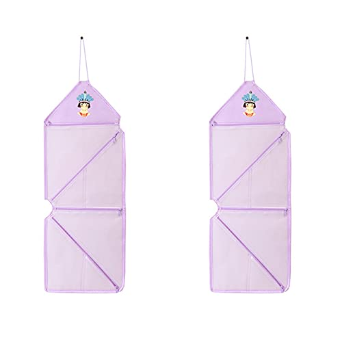 Honton 2 PCS Hanging Storage bags Storage Bag Hanging Bag Organizer Door Wall Pocket Storage Bag, Purple