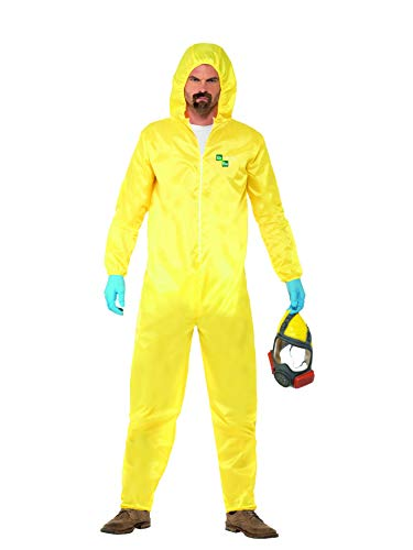 Halloween! Smiffys Kostüm Breaking Bad, Gelb, mit Schutzanzug, Maske, Handschuhen & Kinnbart