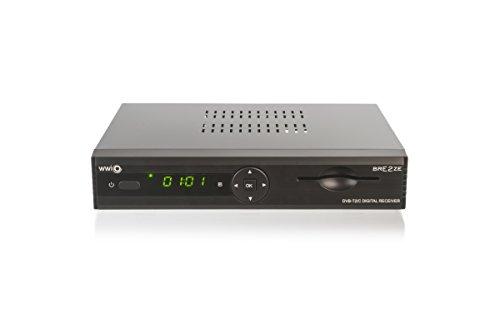WWIO BrE2ze T2/C Hybrid Digital Receiver (HD-TV, DVB-T2, DVB-C, Enigma2, PVR-Ready, LAN, HDMI-Kabel)