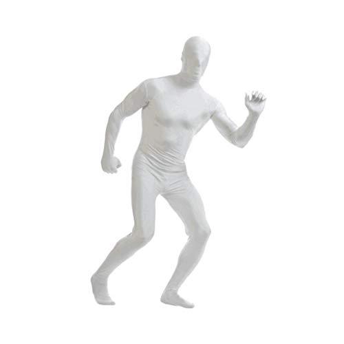 Weiß L Spandex Body Full Body Zentai Hauteng Spandex-Anzug Unisex Anzug Erwachsene Ganzkörper-Anzüge Lycra-Kostüm-Abendkleid-Halloween-Karte Kostüme für Erwachsene und Kinder-Festival-Dekoration
