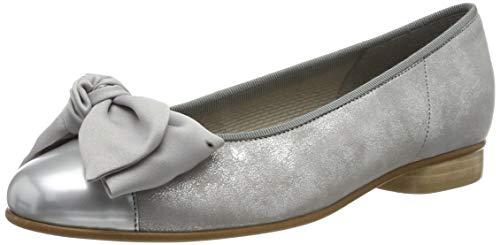 Gabor Shoes Damen Basic Geschlossene Ballerinas, Grau (Silber/Grau 69), 39 EU