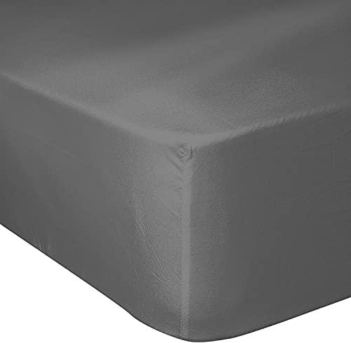Home Linge Passion – Juego de 2 fundas de almohada de algodón 100% de 57 hilos, 180 x 200 cm + gorro de 25 cm