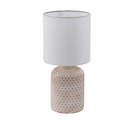 EGLO BELLARIVA Lámpara de mesa, 40 W, Creme-weiss