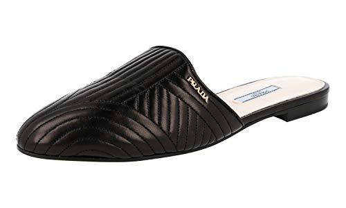 Prada Women's 1S6801 Black Leather Sandals US 10.5 / EU 40.5