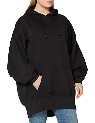 Urban Classics Damen Ladies Long Oversize Hoody Kapuzenpullover, Black, L