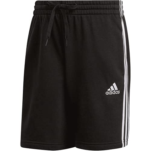 adidas Pantalones cortos French Terry con 3 rayas. blanco/negro XL