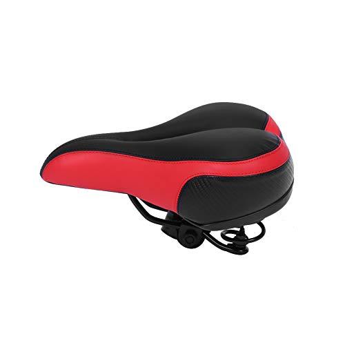 Yagosodee - Cojín para sillín de bicicleta (absorbe los golpes, gruesos, con accesorios de ciclismo de alta banda reflectante)