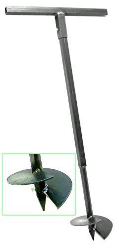 200 mm Erdbohrer Handerdbohrer Erdlochbohrer Pflanzbohrer Pfahlbohrer Lochspaten Erdlochausheber Pfostenbohrer