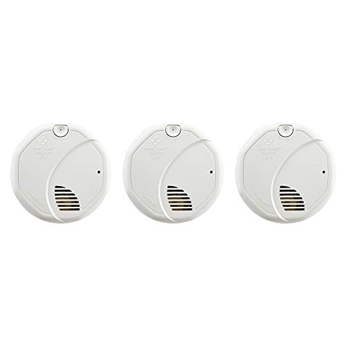 FIRST ALERT BRK 3120B-3 Hardwired Smoke Detector with Photoelectric and Ionization with Battery Backup, 3-Pack