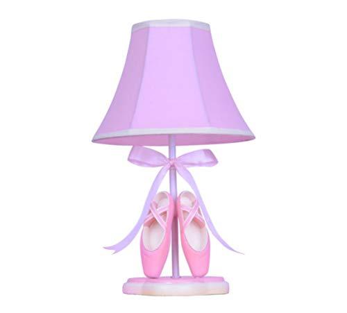 Lampe de bureau à LED réglable avec lampe de table et chaussures de ballet en forme de lampe pour enfants avec abat-jour en tissu