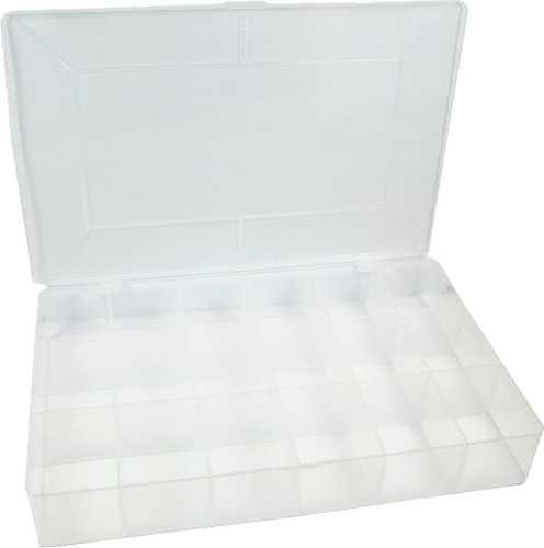 InLine 43009C kleine onderdelen lege doos 18 vakken afmetingen 273 x 186 x 41 mm