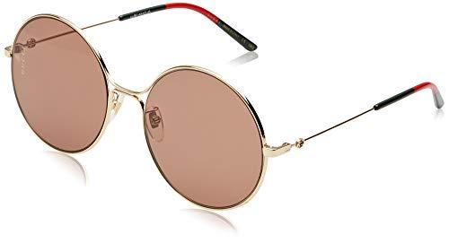 Gucci GG0395S-002 Gafas de sol, Dorado, 58 para Mujer