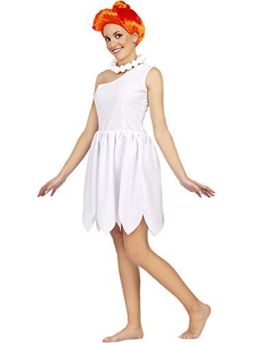 Funidelia   Disfraz de Vilma Picapiedra - Los Picapiedra Oficial para Mujer Talla XL The Flintstones, Dibujos Animados, Los Picapiedra, Caverncolas - Color: Blanco - Licencia: 100% Oficial