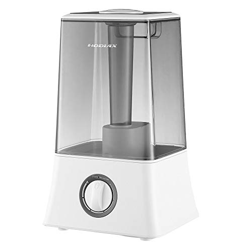 U-DRIVE Cool Mist Humidifier - Premium Humidifying Unit with Visible Water Tank, Whisper-Quiet Operation, Auto Shut Off Best for Kids Baby Office Bedroom Gym Home, 4.5L (Grey)