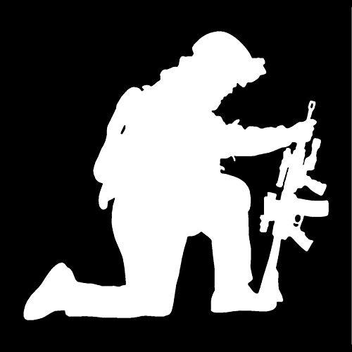 BLOUR 16 * 15.2CM The Soldiers Firing Personality Autoaufkleber, der den Körper der Mode-Vinyl-Abziehbilder Schwarz/Silber C7-1535 bedeckt