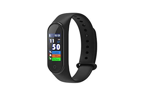 DCU TECNOLOGIC | Pulsera de Actividad | Smart Band | Reloj Inteligente | Pantalla Táctil | IP68 | Compatible con iOS y Android | Negro