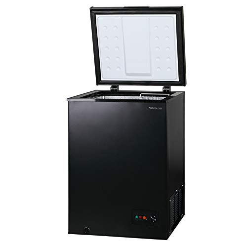 Cookology CCF99BK Black Chest Freezer for Outbuildings, 99L 56cm Compact 4* star