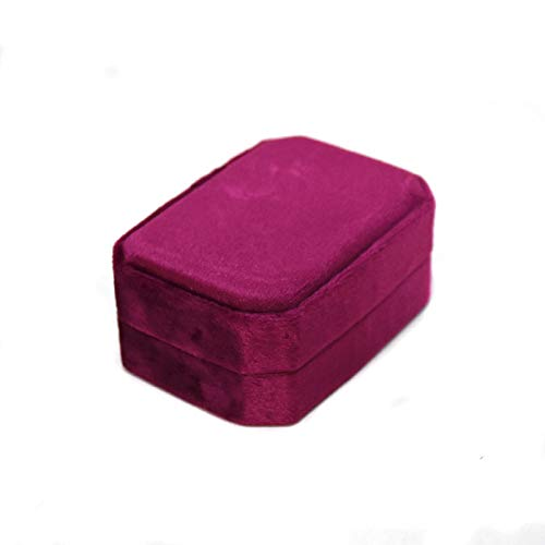 ARMAC Flannel Jewelry Storage Case,Portable Travel Storage Container Ring Box Earring Organisers