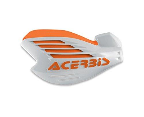 KTM X-Force Handguards (White/Orange) by Acerbis upp1502044