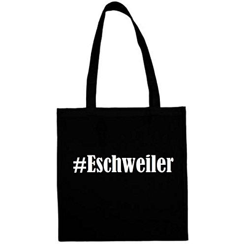 Tasche #Eschweiler Größe 38x42 Farbe Schwarz Druck Weiss