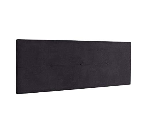 DHOME Cabecero de Polipiel o Tela AQUALINE Pro cabeceros Cabezal tapizado Cama Lujo (Tela Negro, 160cm (Camas 150/160))