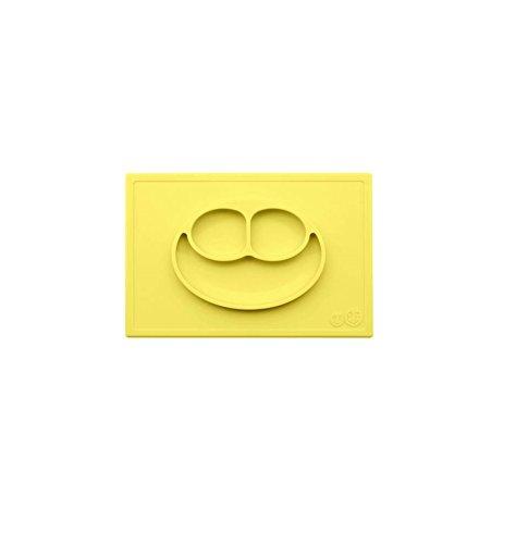 Ezpz The Happy Mat - Plato de silicona, color lemon