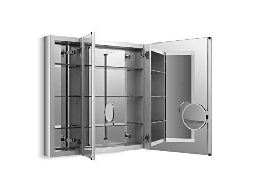 Medicine Cabinet by KOHLER, Bathroom Medicine Cabinet with Mirror, Verdera Collection, 40 Inch X 30 Inch, Slow Close Magnifying Mirror, K-99011-NA