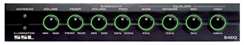 Sound Storm Labs S4EQ 4 Band Pre Amp Car Equalizer with Gold Plated Front Rear and Subwoofer Outputs