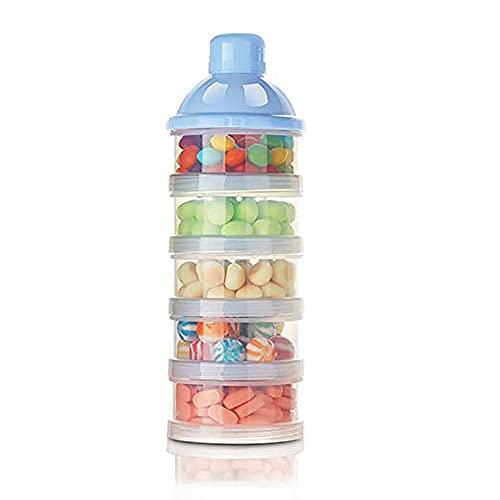 Felly 4 Boite Doseuse Poudre de Lait, Bébé Boîte alimentaire Distributeur de lait en Poudre/Boîte de Lait/Poudre de Lait et le Réservoir de Stockage de Casse-croûte, séparable à l'unité