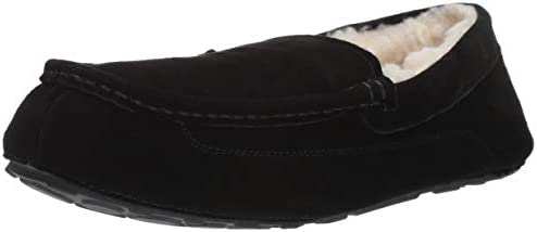 Amazon Essentials Men s Leather Moccasin Slipper Black 10 M US product image