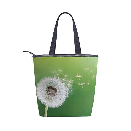 BKEOY Große Handtasche Schultertasche mit Pusteblumen-Aufdruck