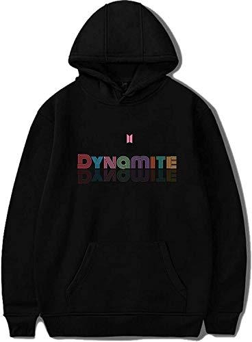 Kpop BTS Album Dynamite Sudadera con capucha Jimin Jungkook Suga V (color: negro 02, tamaño: mediano)