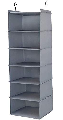 Aibrisk Hanging Closet Organizer,6 Shelves...
