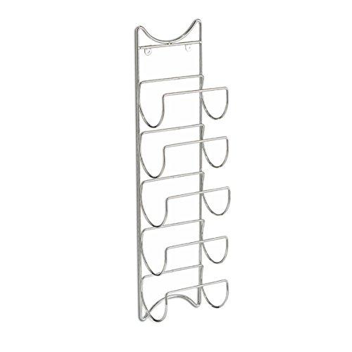 Zeller 27373 Wand-Flaschenhalter, 5xFlaschen, Metall verchromt, ca. 15 x 10,5 x 61 cm
