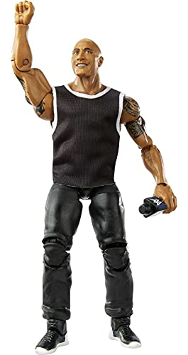 WWE The Rock Elite Collection Action Figure, 6-in Posable Collectible Gift Fans Ages 8 Years Old & Up