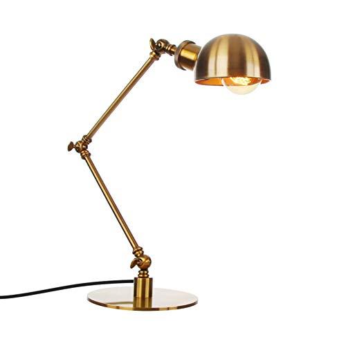 Lámpara de escritorio industrial, lámpara de bombilla Edison vintage, lámpara de oficina retro para dormitorio, sala de estar, oficina, negro, dormitorio (sin bombilla)