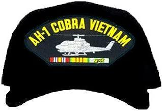 AH-1 Cobra Vietnam Ball Cap * W/RIBBON EMBROIDERED EMBLEM BLACK Ball Cap/Hat